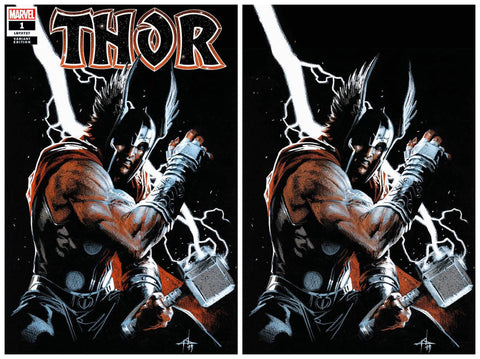 THOR #1 GABRIELE DELL'OTTO TRADE/VIRGIN VARIANT SET LIMITED TO 600 SETS WITH NUMBERED COA