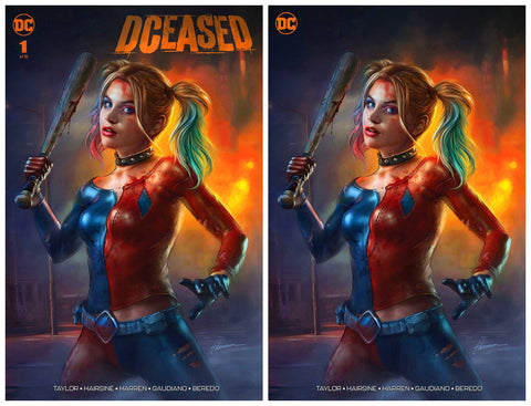 DCEASED #1 SHANNON MAER TRADE DRESS/MINIMAL TRADE VARIANT SET LIMITED TO 1000 SETS