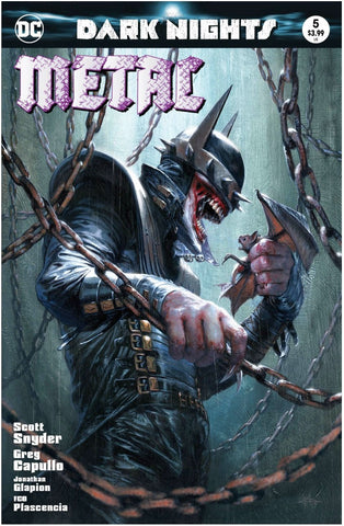 DARK NIGHTS METAL #5 GABRIELE DELL'OTTO BATMAN WHO LAUGHS TRADE DRESS VARIANT LIMITED TO3000 COPIES