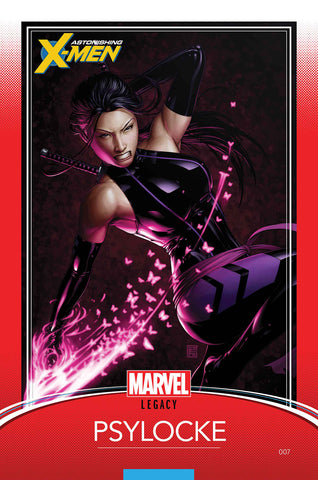 ASTONISHING X-MEN #7 JTC PSYLOCKE TRADING CARD VARIANT
