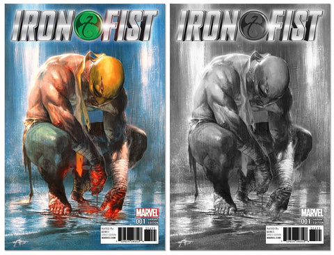 IRON FIST #1 GABRIELE DELL'OTTO VARIANT COLOUR AND B&W