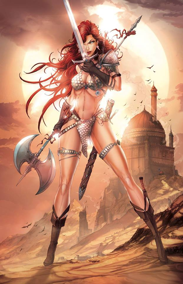 RED SONJA #1 JAMIE TYNDALL VIRGIN VARIANT LIMITED TO 500 COPIES WORLDWIDE