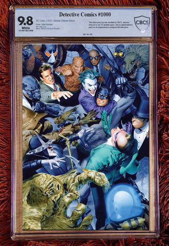 DETECTIVE COMICS #1000 MIKE MAYHEW ULTIMATE VIRGIN VARIANT LIMITED TO 180 CBCS 9.8 + SIGNED & NUMBERED PENCILS CERT