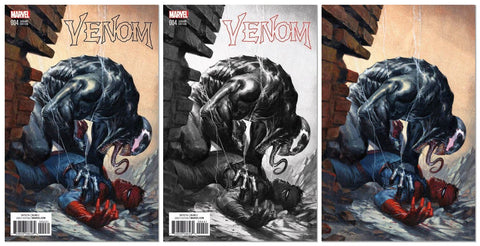 VENOM #4 GABRIELE DELL'OTTO COLOR B&W VIRGIN VARIANT SETS