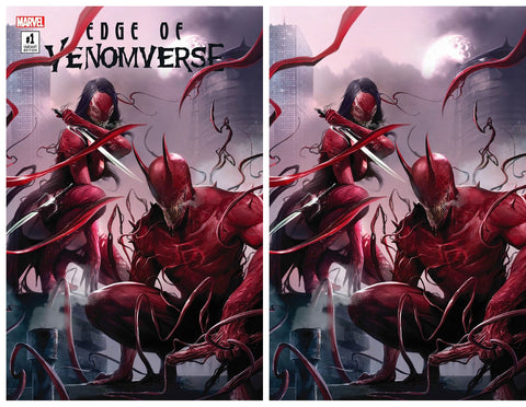 EDGE OF VENOMVERSE #1 EXCLUSIVE FRANCESCO MATTINA VARIANT SET COLOUR & VIRGIN