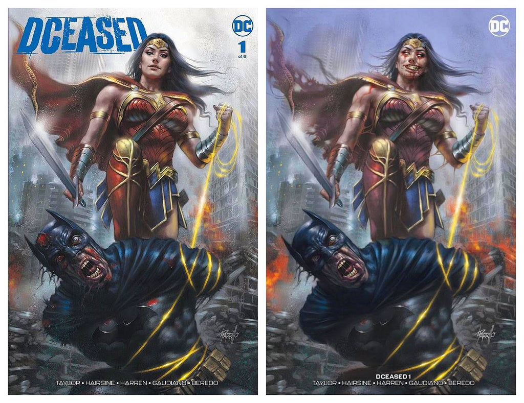 DCEASED #1 LUCIO PARRILLO TRADE/MINIMAL INFECTED SET LIMITED TO 750 SETS WITH COA
