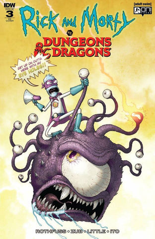 RICK & MORTY VS DUNGEONS & DRAGONS #3 (OF 4) MIKE VASQUEZ VARIANT LIMITED TO 500 COPIES