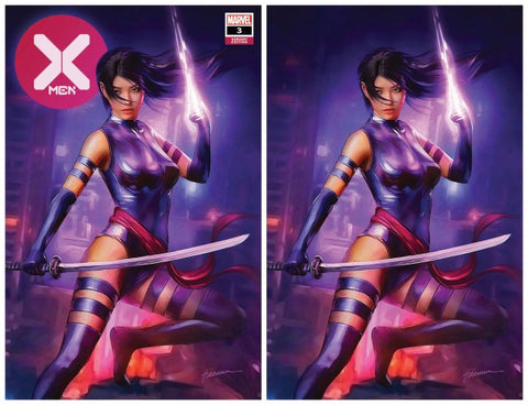 X-MEN #3 DX SHANNON MAER PSYLOCKE TRADE/VIRGIN VARIANT SET LIMITED TO 600 SETS WITH NUMBERED COA