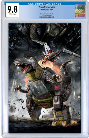 TRANSFORMERS #5 JOHN GALLAGHER DINOSAUR GRIMLOCK VIRGIN VARIANT LIMITED TO 300 CGC 9.8 PREORDER