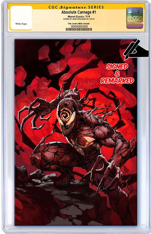 ABSOLUTE CARNAGE #1 SKAN SRISUWAN VIRGIN LIMITED TO 600 CGC REMARK PREORDER
