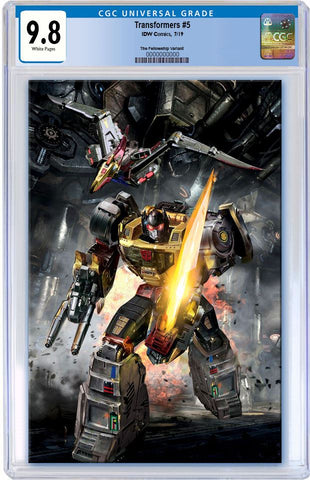 TRANSFORMERS #5 JOHN GALLAGHER ROBOT GRIMLOCK VIRGIN VARIANT LIMITED TO 600 CGC 9.8 PREORDER
