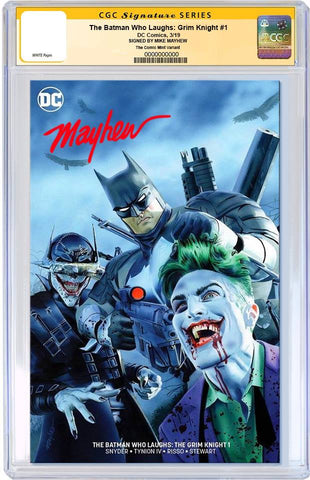 BATMAN WHO LAUGHS THE GRIM KNIGHT #1 MIKE MAYHEW MINIMAL TRADE VARIANT LIMITED TO 700 CGC SS PREORDER