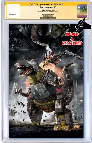 TRANSFORMERS #5 JOHN GALLAGHER DINOSAUR GRIMLOCK VIRGIN VARIANT LIMITED TO 300 CGC REMARK PREORDER