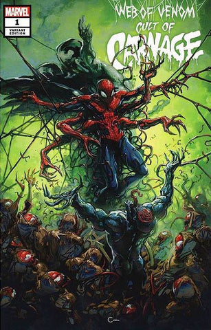WEB OF VENOM CULT OF CARNAGE #1 CLAYTON CRAIN VARIANT COVER OPTIONS