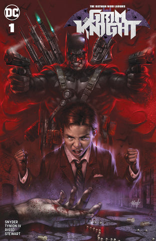 BATMAN WHO LAUGHS THE GRIM KNIGHT #1 LUCIO PARRILLO TRADE DRESS VARIANT LIMITED TO 2000 WITH NUMBERED COA
