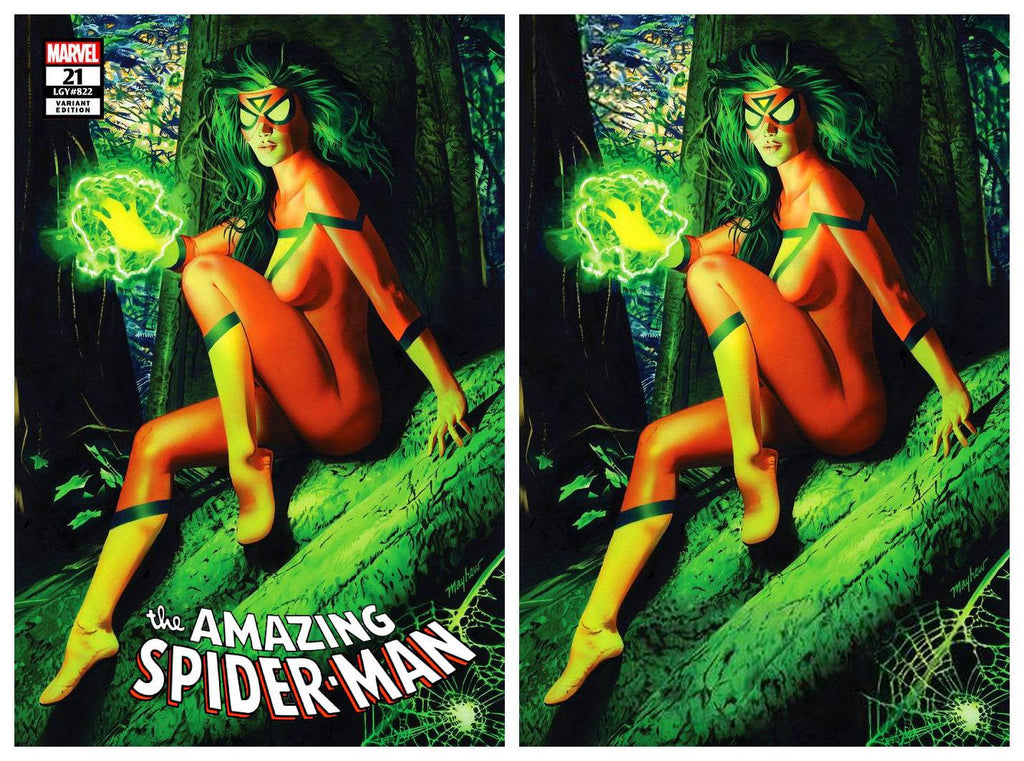 AMAZING SPIDER-MAN #21 MIKE MAYHEW SPIDERWOMAN TRADE DRESS/VIRGIN VARIANT SET