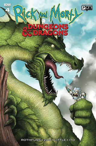 RICK & MORTY VS DUNGEONS & DRAGONS #4 (OF 4) 1:10 MIKE VASQUEZ VARIANT