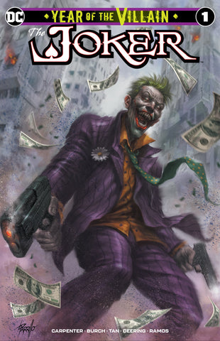 JOKER YEAR OF THE VILLAIN #1 LUCIO PARRILLO TRADE DRESS VARIANT LIMITED TO 1000 WITH NUMBERED COA