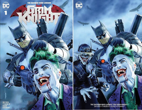 BATMAN WHO LAUGHS THE GRIM KNIGHT #1 MIKE MAYHEW TRADE/MINIMAL TRADE VARIANT SET LIMITED TO 700 SETS