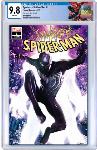 SYMBIOTE SPIDER-MAN #1 ALEXANDER LOZANO TRADE DRESS VARIANT LIMITED TO 3000 CGC 9.8 PREORDER (SPECIAL LABEL)