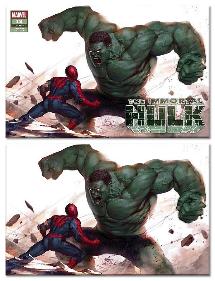 IMMORTAL HULK #18 INHYUK LEE TRADE DRESS/VIRGIN SET LIMITED TO 600 SETS WITH NUMBERED CoA