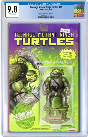 TMNT #98 MIKE VASQUEZ JENNIKA ACTION FIGURE VARIANT LIMITED TO 800 CGC 9.8 PREORDER