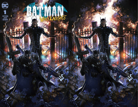 BATMAN WHO LAUGHS #1 CLAYTON CRAIN C2E2 FOIL VARIANT SET LIMITED TO 500 SETS WITH NUMBERED CoA