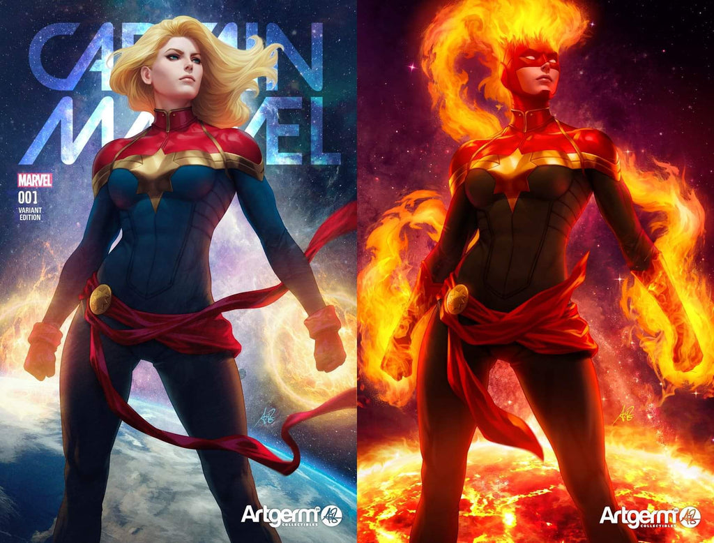 CAPTAIN MARVEL #1 ARTGERM EXCLUSIVE TRADE DRESS/VIRGIN VARIANT