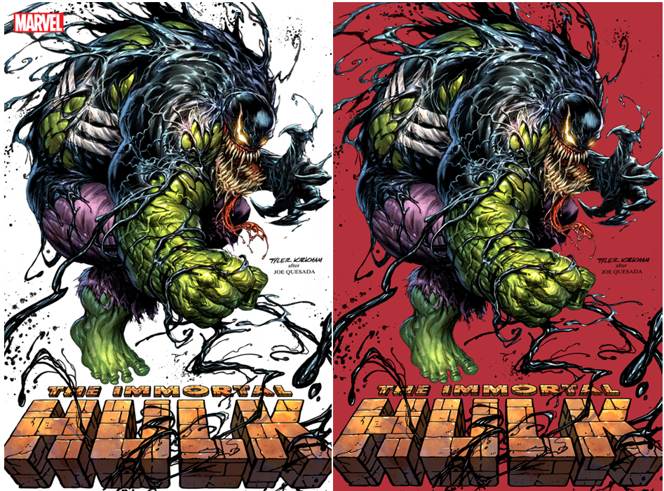 IMMORTAL HULK GREAT POWER #1 TYLER KIRKHAM VENOM #1 HOMAGE COVER A/B VARIANT SET LIMITED TO 1000 SETS