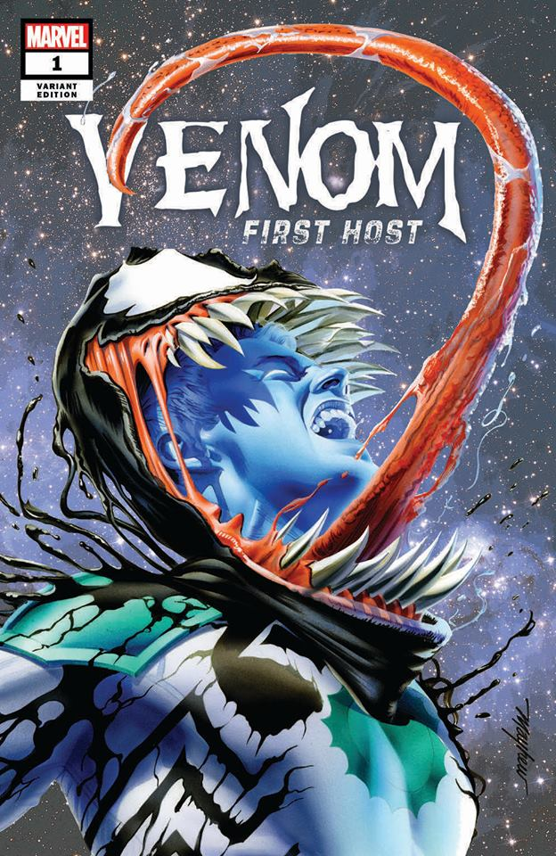 VENOM FIRST HOST #1 MIKE MAYHEW VARIANT '1ST APP OF TEL-KAR' TRADE DRESS VARIANT LIMITED TO 3000