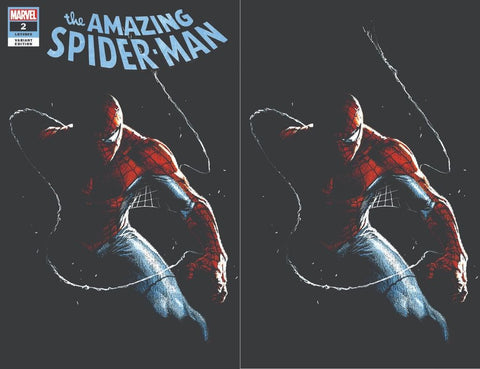 AMAZING SPIDER-MAN #2 GABRIELE DELL'OTTO PAINT ON BLACK VARIANT TRADE/VIRGIN VARIANT SET LIMITED TO 1000 SETS