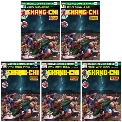 SHANG-CHI #1 DERRICK CHEW HOMAGE VARIANT LIMITED TO 1000 COPIES WITH NUMBERED COA - 5 PACK