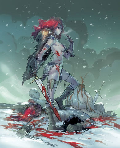 RED SONJA #1 MIRKA ANDOLFO VIRGIN VARIANT LIMITED TO 500 COPIES WORLDWIDE
