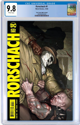 RORSCHACH #1 INHYUK LEE VARIANT LIMITED TO 600 COPIES WITH NUMBERED COA CGC 9.8 PREORDER