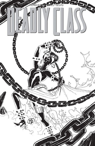 DEADLY CLASS #28 SPAWN BW VARIANT MONTH