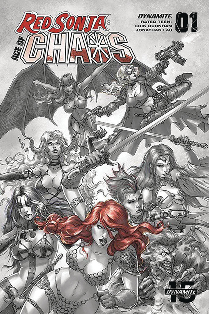 22/01/2020 RED SONJA AGE OF CHAOS #1 1:40 QUAH HELL RED VARIANT