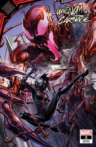 KING IN BLACK GWENOM VS CARNAGE #2 CLAYTON CRAIN EXCLUSIVE TRADE DRESS VARIANT