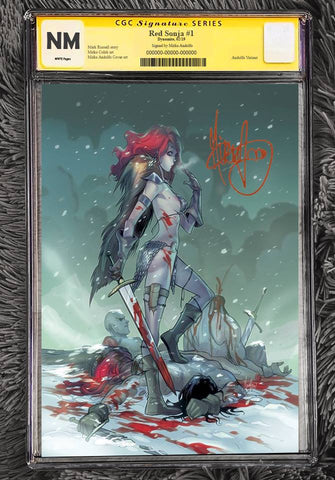 RED SONJA #1 MIRKA ANDOLFO VIRGIN VARIANT LIMITED TO 500 COPIES WORLDWIDE CGC SS PREORDER