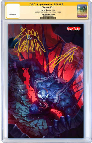 VENOM #31 WOO CHUL LEE VIRGIN VARIANT LIMITED TO 600 WITH COA CGC SS SIGNED BY STEGMAN & CATES