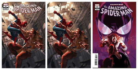 AMAZING SPIDER-MAN #21 JUNGGEUN YOON TRADE DRESS/VIRGIN VARIANT SET LIMITED TO 500 SETS WITH NUMBERED COA & 1:25 CASANOVAS VARIANT