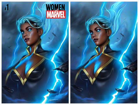 WOMEN OF MARVEL #1 SHANNON MAER TRADE/VIRGIN VARIANT SET LIMITED TO 600 SETS WITH NUMBERED COA