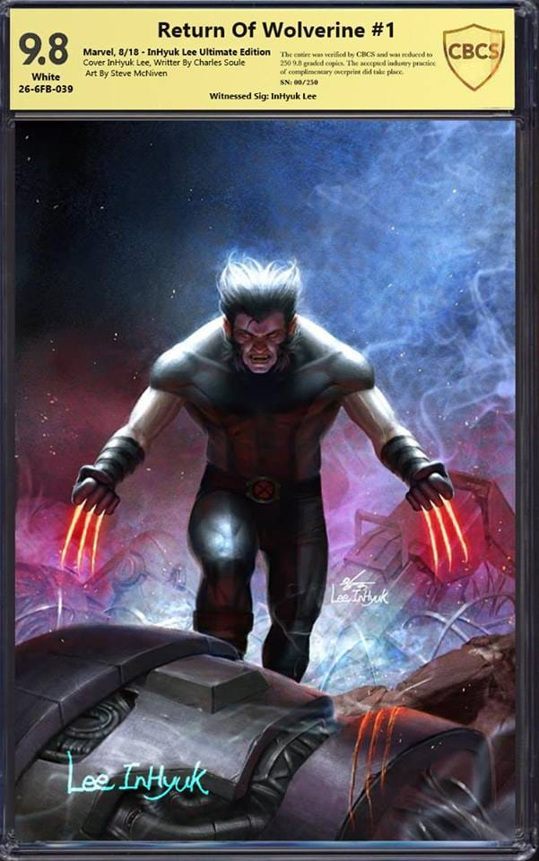 RETURN OF WOLVERINE #1 IN-HYUK LEE ULTIMATE CBCS SS 9.8 VARIANT LIMITED TO 250