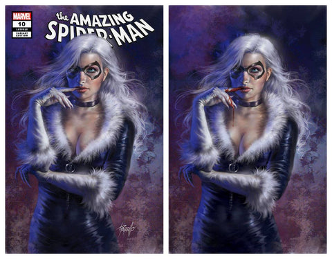 AMAZING SPIDER-MAN #10 LUCIO PARRILLO BLACK CAT TRADE/BLOODY VIRGIN VARIANT SET LIMITED TO 1000 SETS