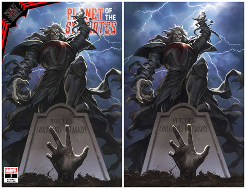 KING IN BLACK PLANET OF SYMBIOTES #1 SKAN SRISUWAN TRADE/VIRGIN VARIANT SET LIMITED TO 800 SETS WITH COA