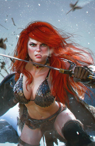 RED SONJA PRICE OF BLOOD #1 TIAGO DA SILVA VIRGIN VARIANT LIMITED TO 500
