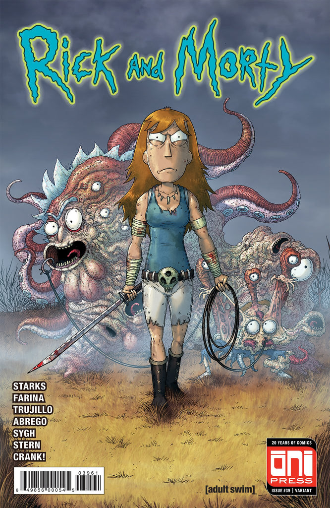 RICK & MORTY #39 MIKE VASQUEZ WALKING DEAD #19 HOMAGE VARIANT LIMITED TO 1000 COPIES