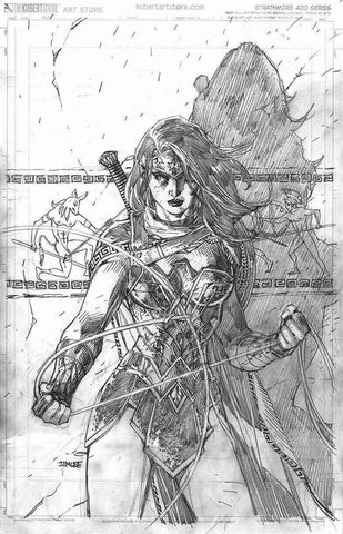 WONDER WOMAN #750 1:100 JIM LEE PENCIL SKETCH VARIANT ED