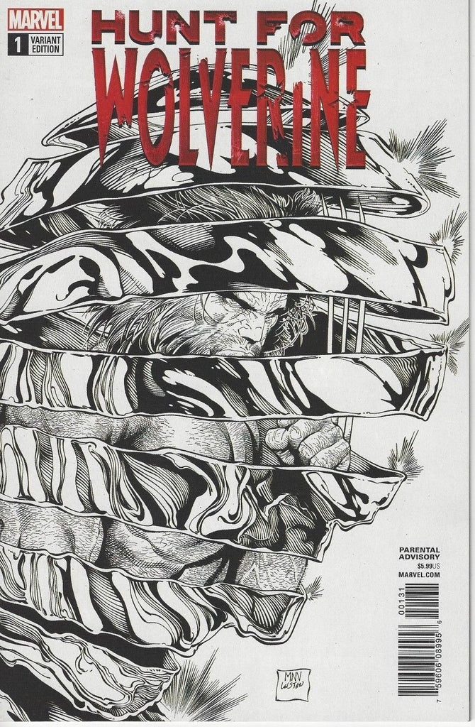 HUNT FOR WOLVERINE #1 1:50 MCNIVEN B&W VARIANT