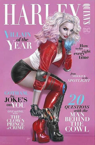 HARLEY QUINN VILLAIN OF THE YEAR #1 NATALI SANDERS TRADE DRESS VARIANT LIMITED TO 1500 WITH NUMBERED COA