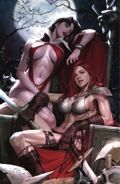 RED SONJA VAMPIRELLA #1 INHYUK LEE NYCC VIRGIN VARIANT LIMITED TO 400